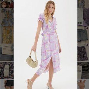 Purple Retro Wrap Dress